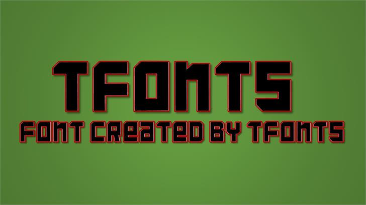 TFonts font by TFonts1