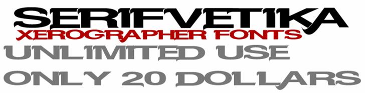 Serifvetika font by Xerographer Fonts