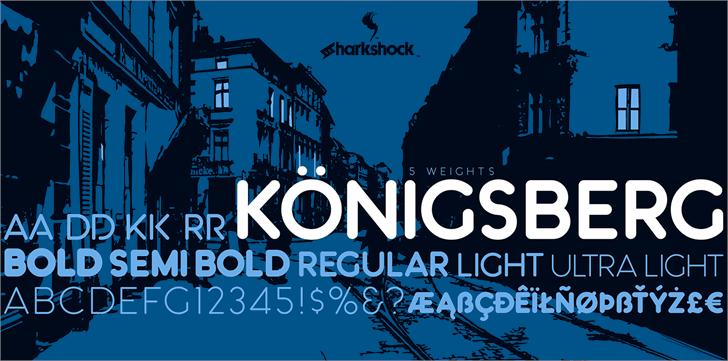 Königsberg font by sharkshock