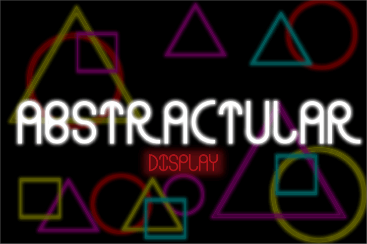 Abstracular-Fat font by DefayDesigns