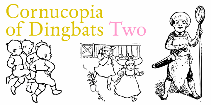 Cornucopia of Dingbats Two font by Intellecta Design