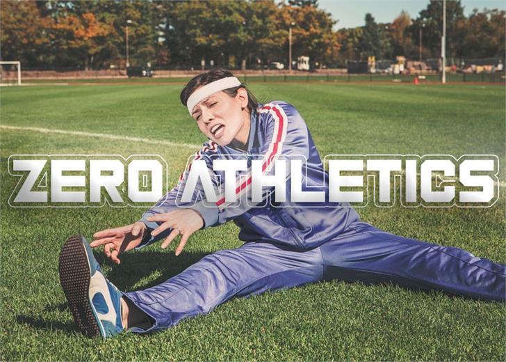 Zero Athletics font by Font Monger