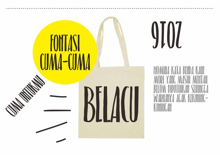 Belacu font by Gunarta