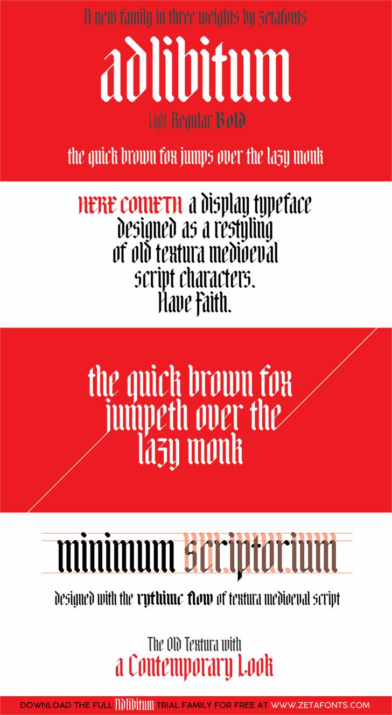Adlibitum font by Zetafonts