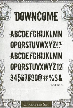 Downcome font by Misprinted Type
