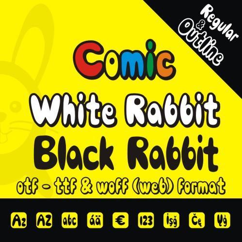 Comic Black Rabbit font by studiotypo