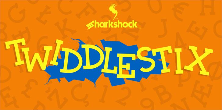 Twiddlestix font by sharkshock