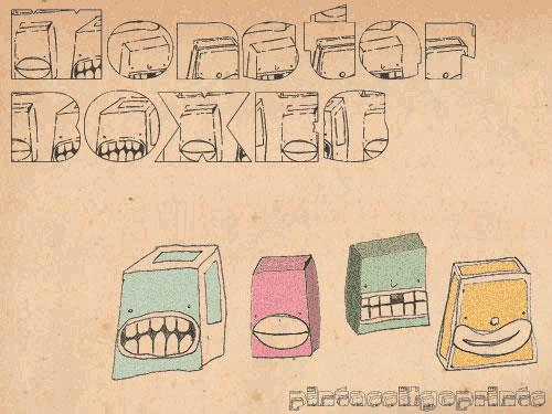 Monster boxes font by PintassilgoPrints