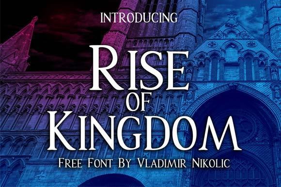 Rise of Kingdom font by Vladimir Nikolic