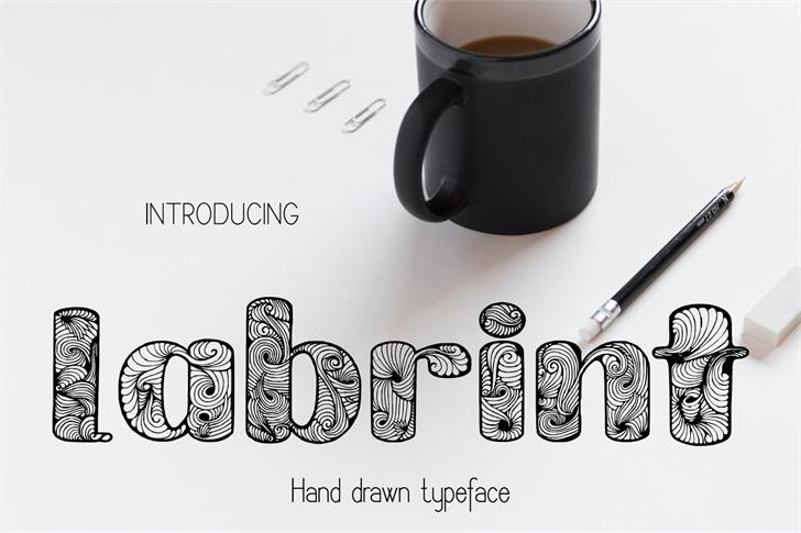 Labrint font by Eva Barabasne Olasz