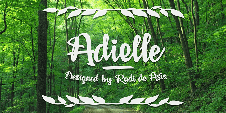 Adielle PERSONAL USE ONLY font by Måns Grebäck