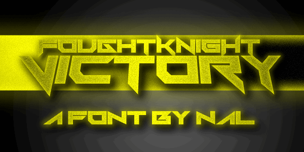 fonte foughtknight victory