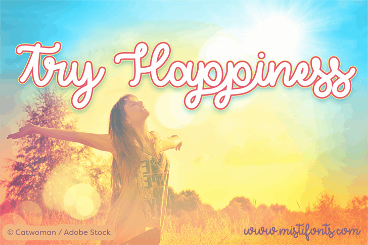 Try Happiness Demo font by Misti's Fonts
