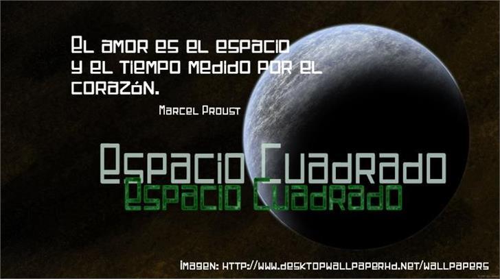 Espacio Cuadrado font by Jaime Rangel Castro