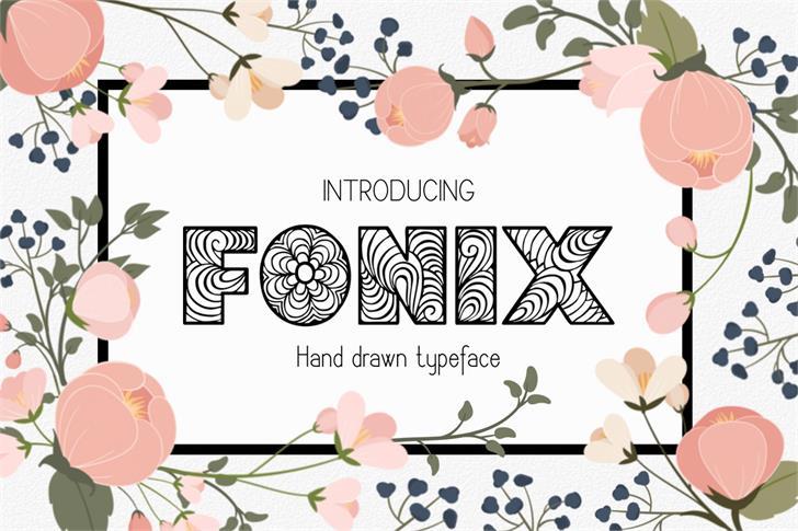 Fonix font by Eva Barabasne Olasz