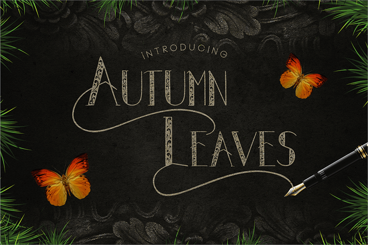 Autumn Leaves font by madeDeduk