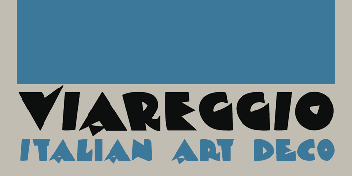 DK Viareggio font by David Kerkhoff