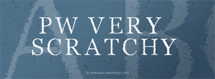 PWVeryScratchy font by Peax Webdesign