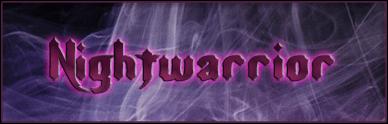 Nightwarrior font by Pixel Sagas