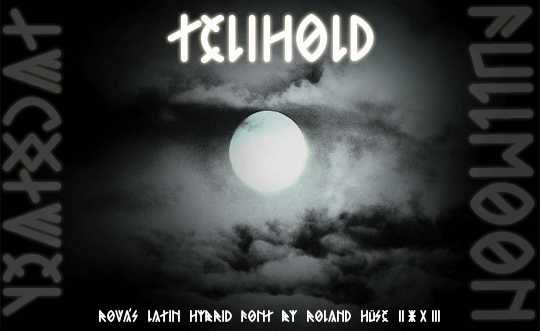 Telihold font by Roland Huse Design