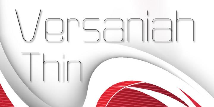 Versaniah_Thin font by Kchemnad
