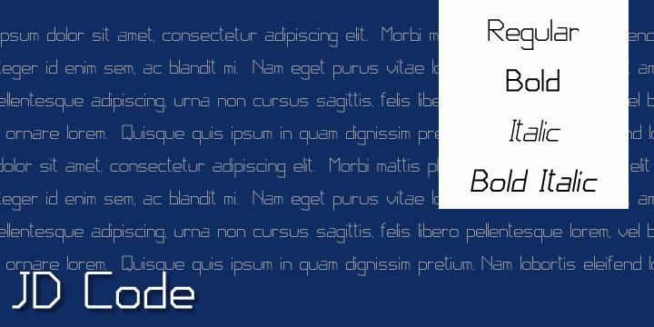 JD Code font by Jecko Development