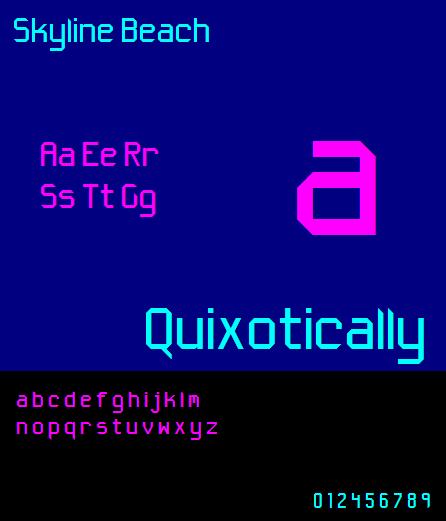 Skyline Beach NBP font by total FontGeek DTF, Ltd.