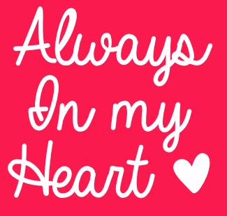 Valentine Heart Borders Always In My Heart fon...