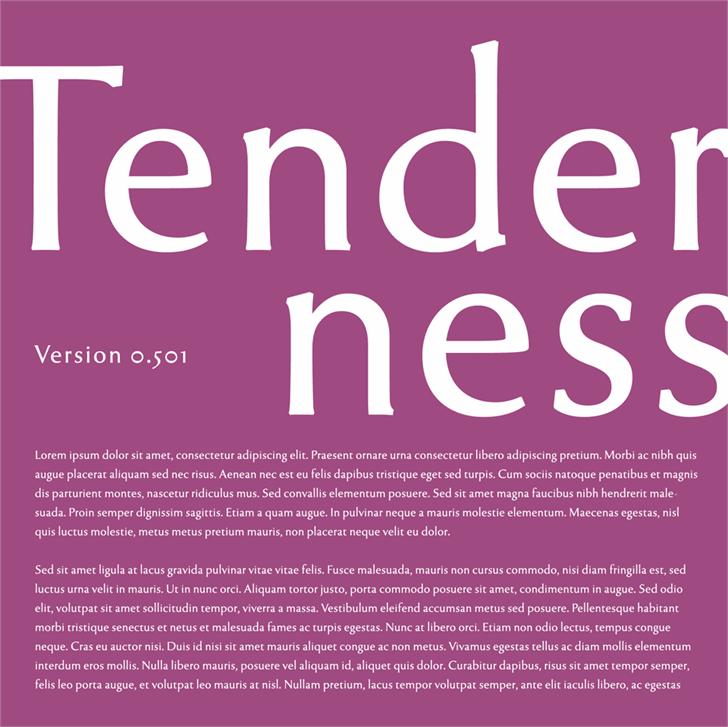Tenderness font by arro