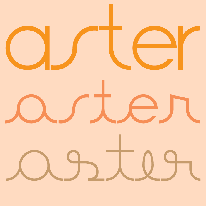 Aster font by Paulo R