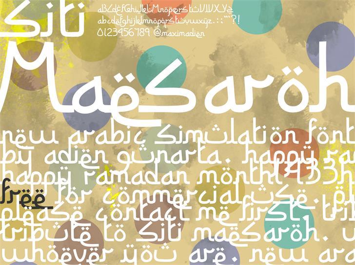 Siti Maesaroh font by Gunarta