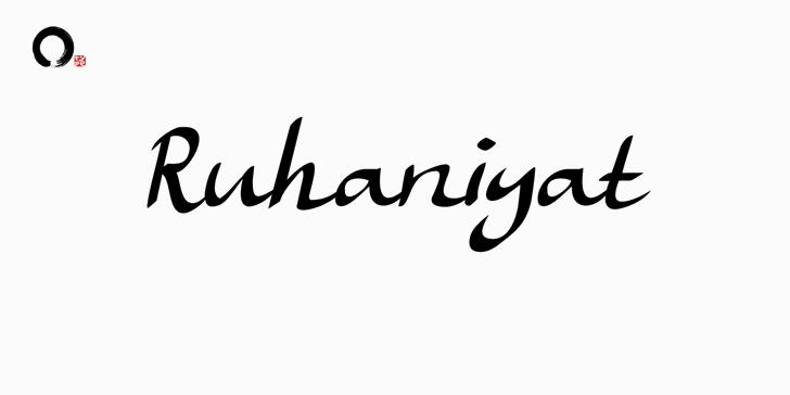 Ruhaniyat DEMO font by Ensotype