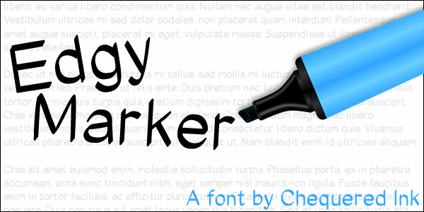 Edgy Marker font by Chequered Ink