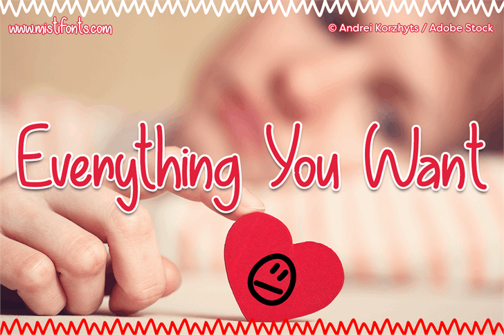 Everything You Want font by Misti's Fonts