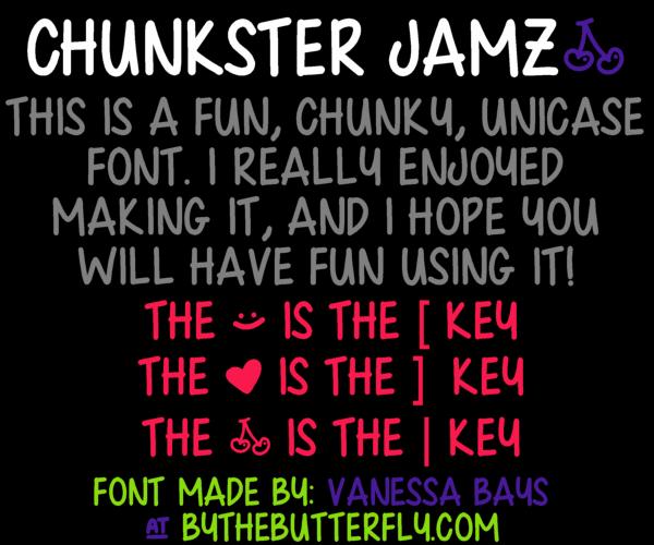 Chunkster Jamz font by ByTheButterfly