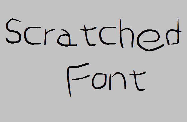 Scratched font by Nouman