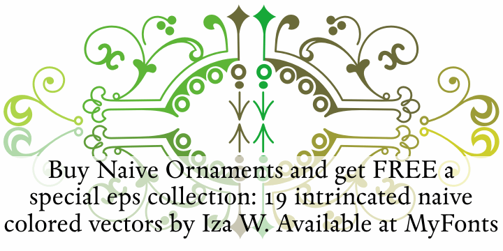 Naive Ornaments Free font by Intellecta Design