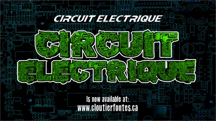 CF Circuit Electrique font by CloutierFontes