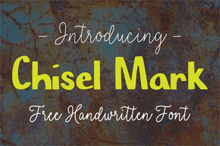 Chisel Mark font by SavanasDesign