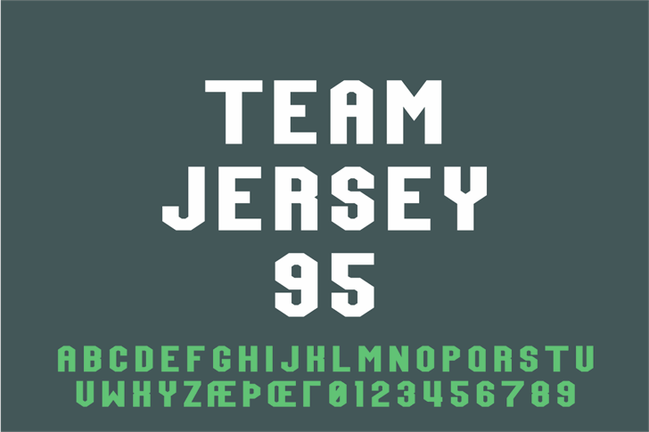 Team Jersey 95 Demo font by Out Of Step Font Company