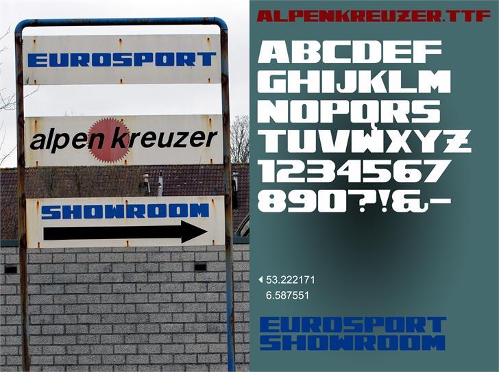 Alpenkreuzer font by Tup Wanders