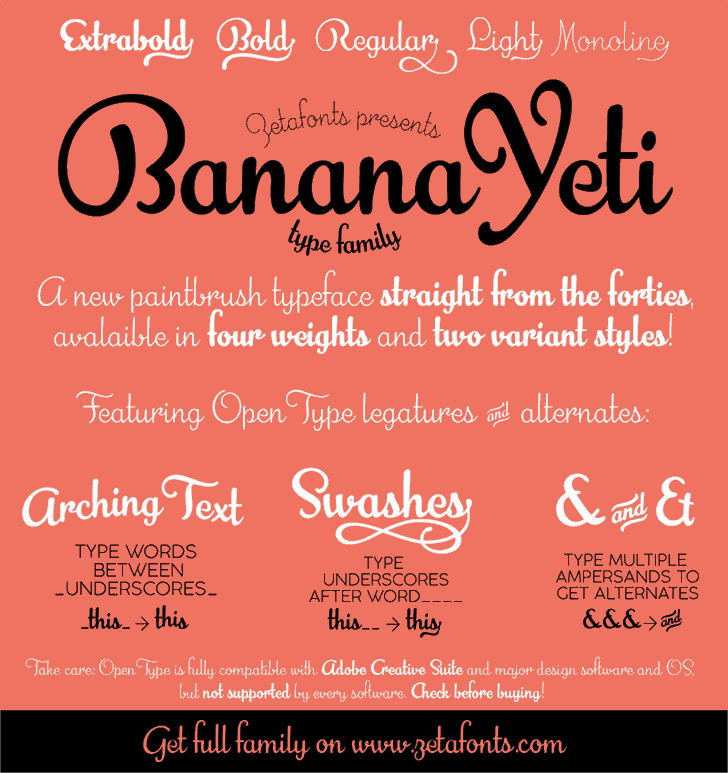 Banana Yeti font by Zetafonts