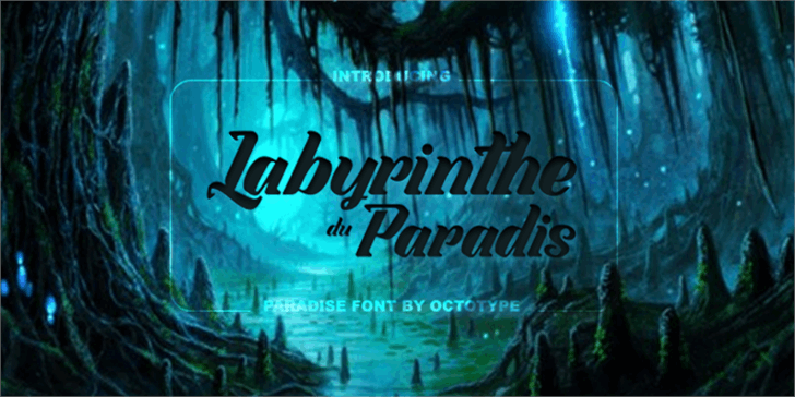 Labyrinthe du Paradis font by Octotype