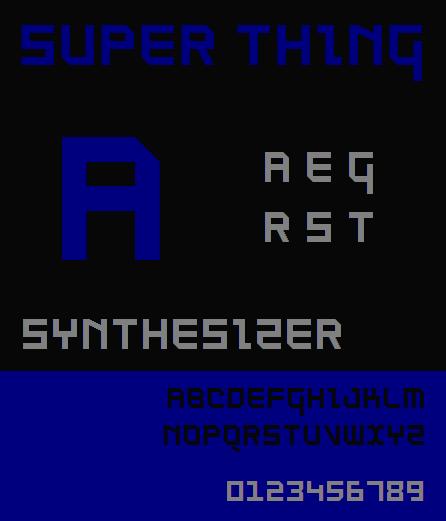 SuperThing NBP font by total FontGeek DTF, Ltd.