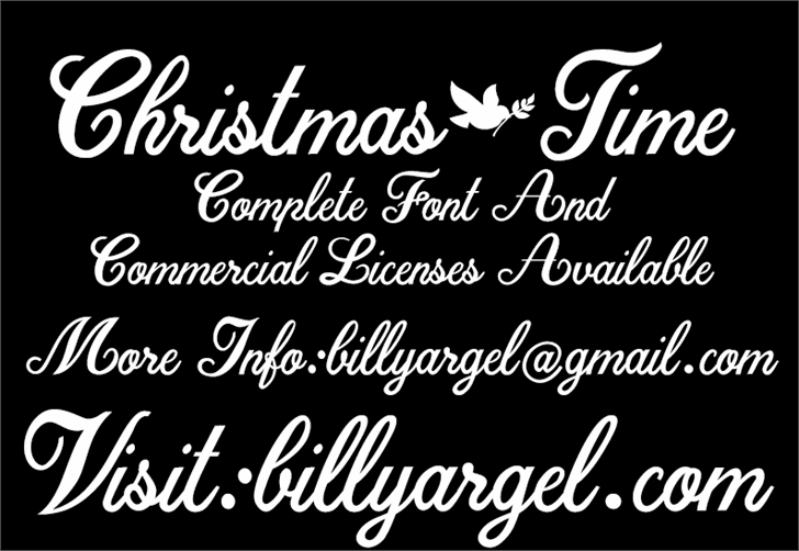 Christmas Time Personal Use font by Billy Argel
