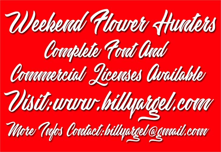Weekend Flower Hunters Personal font by Billy Argel