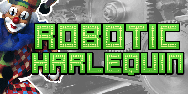 Robotic Harlequin font by Chequered Ink
