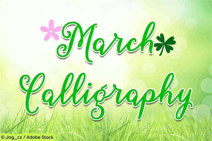 March Calligraphy font by Misti's Fonts