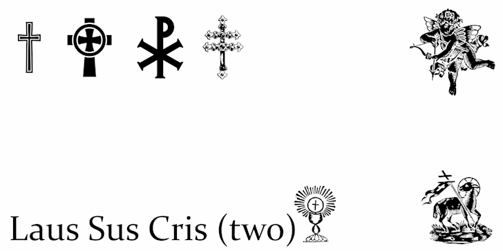 Laus Sus Cris Two font by Intellecta Design