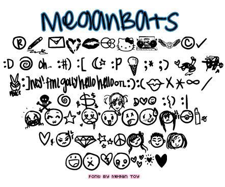 MeganBats font by Megan Toy Fonts